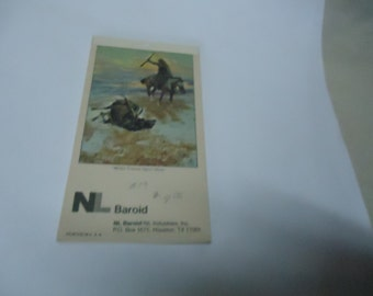 Vintage 1979 Baroid Note or Sketch Pad, UNUSED, collectable, Houston Texas book, advertising