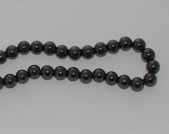 10 10mm diameter black Hematite beads