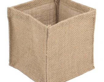 "6"" x 6"" x 6"" Burlap Vase Holder (12 Pack)"