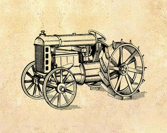 Vintage Patent poster - Farm Tractor  - Vintage Farmhouse - Farmhouse art - Vintage Tractor - Kitchen art - Vintage Farm art - Farm patent