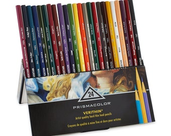 24 Prismacolor Verithin Colored Pencils - Premier | Prismacolor Pencils, Thin Tip\Point Drawing and Coloring Pencil | Set of 24 Colors