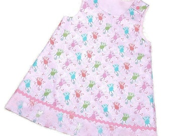 Childs Pink Monkey Dress Size 3
