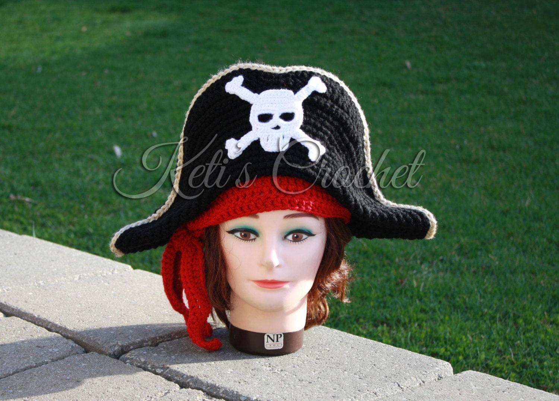 Erwachsenen Piratenhut häkeln Piratenhut häkeln Hut