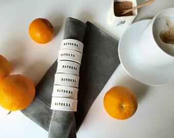Customizable/ personalized napkin rings