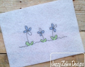 Flower 65 Sketch Embroidery Design - flowers Sketch Embroidery Design - girl Sketch Embroidery Design - spring Sketch Embroidery Design