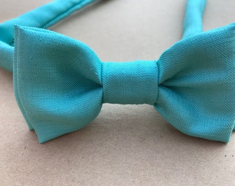 Boys Bow Ties, Boys Mint Bow Tie, Boys Aqua Bow Tie, Boys GreenBow Tie, Toddler Bow Ties, Wedding Ring Bearer, Baptism, Page Boy