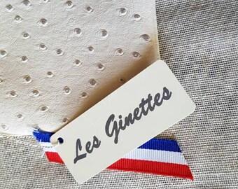 Pm faux ostrich leather pouch
