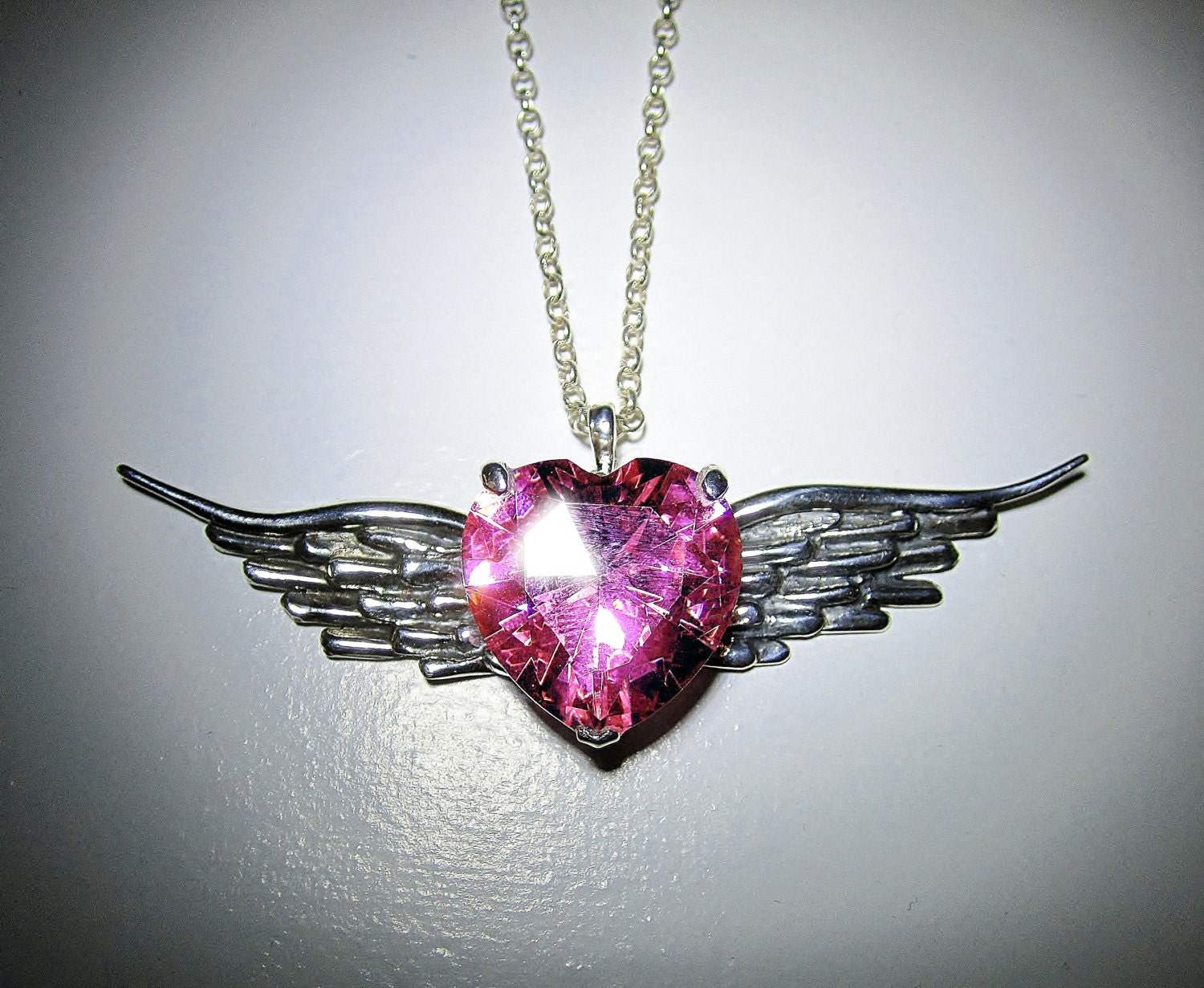 diamond lab baby store elegant w gold silver yellow chain winged finish pendant angel cute