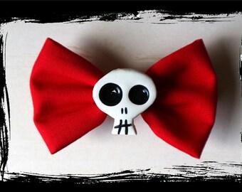 bloody valentine - skull hair bow