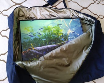 """Large Sto and Go Bag,53"""" x 32"""",Framed Artwork Carry Bag,Canvas and Lined, Customized Sizes Available, Made to Order,You Pay Shipping."""