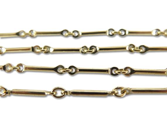 Vintage Gold Plated Bar Chain (3 feet) (C687)