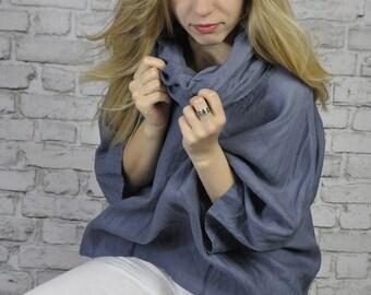 Turtleneck shirt 100% linen