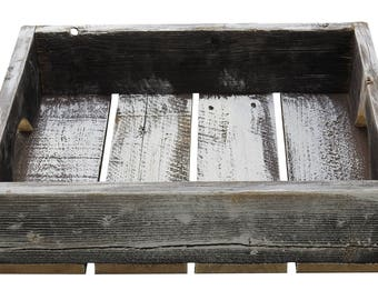 "R & W 12"" x 4"" x 15.5"" Vintage Reproduction Wooden Box, White"