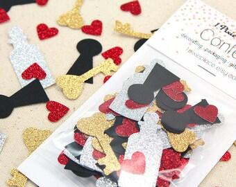Drink Me Glitter Confetti - 100 pieces - Alice in Wonderland, Table confetti, Party Decorations