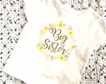 Big Sister sunflower Shirt