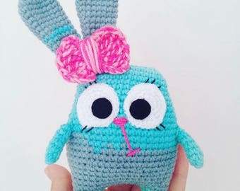 Bunny toy Knitted toy Soft toy Baby gift Kids toy Newborn toy Stuffed toy Soft toy Knit animals Plush doll Wool Toy Stuffed Animal