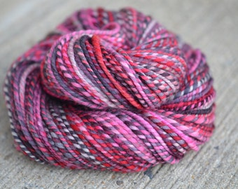 Lucky Star - polwarth 2-ply handspun yarn - bulky weight, 109 yards