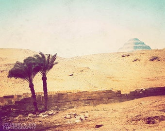 Egyptian landscape photograph, travel photography, fine art photo, ancient Egypt, retro photography - Step Pyramid