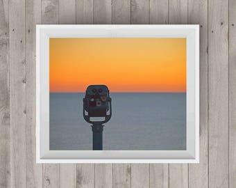 Binoculars Sunrise Photography Photography Art Sunrise Photo Ocean Photography Wall Art Digital Image Downloadable Print Home Decor
