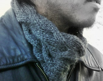 Men or Women Knit Snood Scarf - Unisex Head Gaiter / Cowl / Headwarmer- Choice of Color
