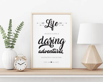 Daring Adventures - A4 printable image