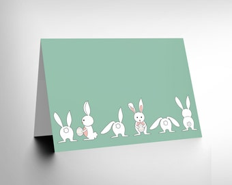 Easter Card / Baby Bunnies / Kids Card / Childrens / New Baby / Cute Card CL1022
