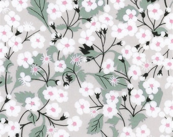 Liberty Mitsi Liberty color light gray pattern print fabric