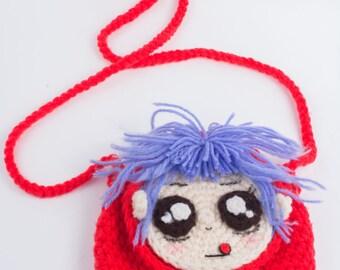 Handmade crochet bag, crocheted purse