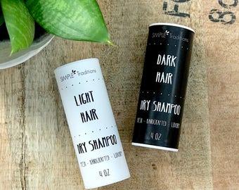 Dry Shampoo | Shampoo | Blonde Hair | Dark Hair | Red Head | Light Hair | Powder Shampoo | Natural Hair Care | Sensitive Skin | Women | Hair