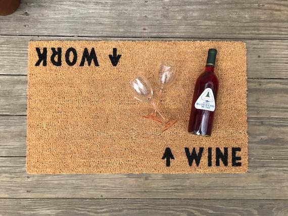 Wine work mat doormat perfect housewarming gift wine for Best wine for housewarming gift