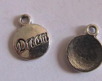 silver charm, set of 10, dream, 16mmx12mm