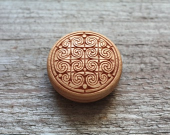 Celtic knot box Celtic box Celtic gift Celtic jewelry box Celtic wood box Small box Round box Gift for kids Gift for wife Wooden box