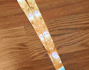 Cattails and Cats Lanyard