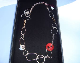 STERLING Silver and GOLD filled BAKELITE necklace