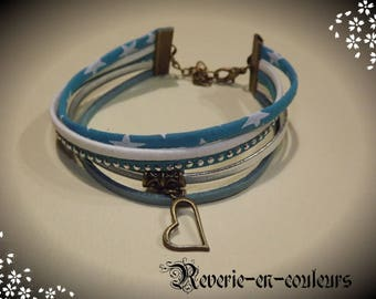 liberty turquoise suede Cuff Bracelet