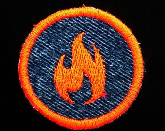 Flamable  Iron-on Patch / Merit Badge
