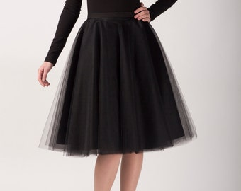 Circle tulle skirt, Handmade tutu skirt, High quality skirt, black skirt, petticoat
