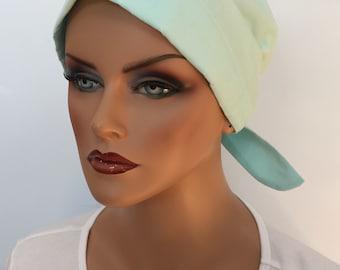 Sandra Women's Surgical Scrub Cap, Cancer Hat, Chemo Head Scarf, Alopecia Head Wrap, Headwear, Cancer Gift, Hair Loss Pale Turquoise