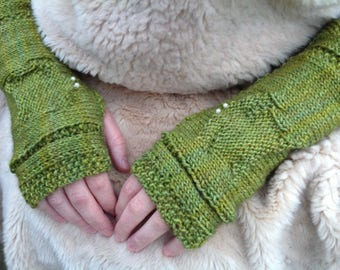 "KNITTING PATTERN- ""Turtle"" Arm & Wrist Warmers"