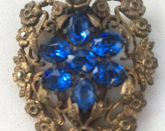 Antique  Open Back beautiful shoe clip sweater clip hat clip, from the 1940's