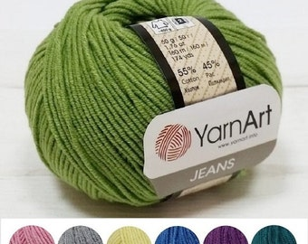 Yarn YarnArt Jeans yarn cotton yarn cotton thread acrylic yarn crochet cotton knitting cotton string cotton fiber classic yarn Turkish yarn