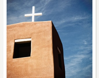 Nambe Two - Fine Art Color Photography - Southwestern Travel Photograph - New Mexico Church Photo - Southwestern Art