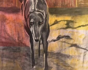 Here I come. Charcoal, pastel and conté crayon on card 42cm x 59cm