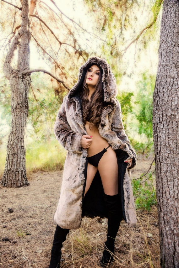 Sex with woman in fur coat