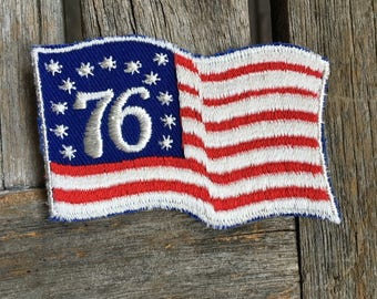 LAST ONE! America 1976 Flag Vintage Travel Souvenir Patch from Voyager