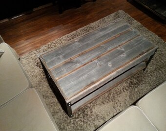 The Horizontal with Shelf - Barn Wood Coffee Table