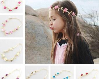 Baby Flower Hair Garland-Leaf Headband-Festival Headband-Leaf and Flower Headband-Hair Garlands-Girl Headband-Hair Accessories