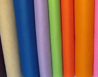 1 Yard Wool Blend Felt - Your Choice of Color