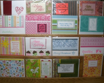 DISCOUNT DEAL! 25 Assorted Handmade Greeting! Each pack will vary, some are retired, some are yet to be seen!