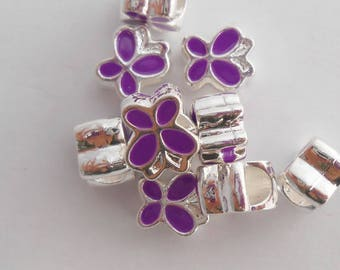 Beads shape 10 Butterfly Charms x 9 mm